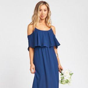 SMYM - Caitlin Ruffle Maxi Dress - Navy - Small
